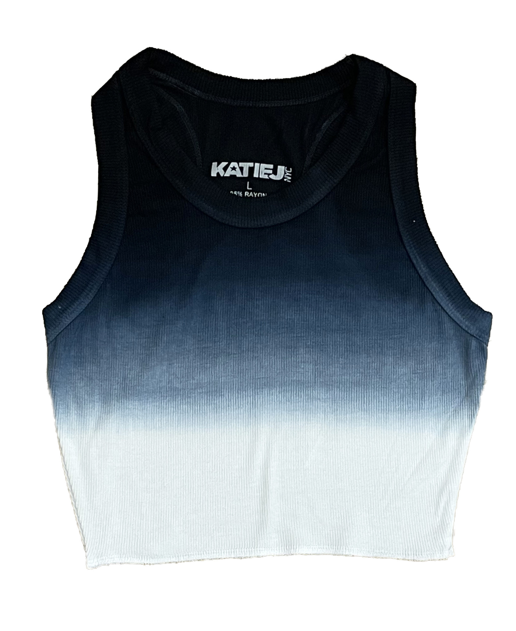 Katie J NYC B/W Dip Dye Tank