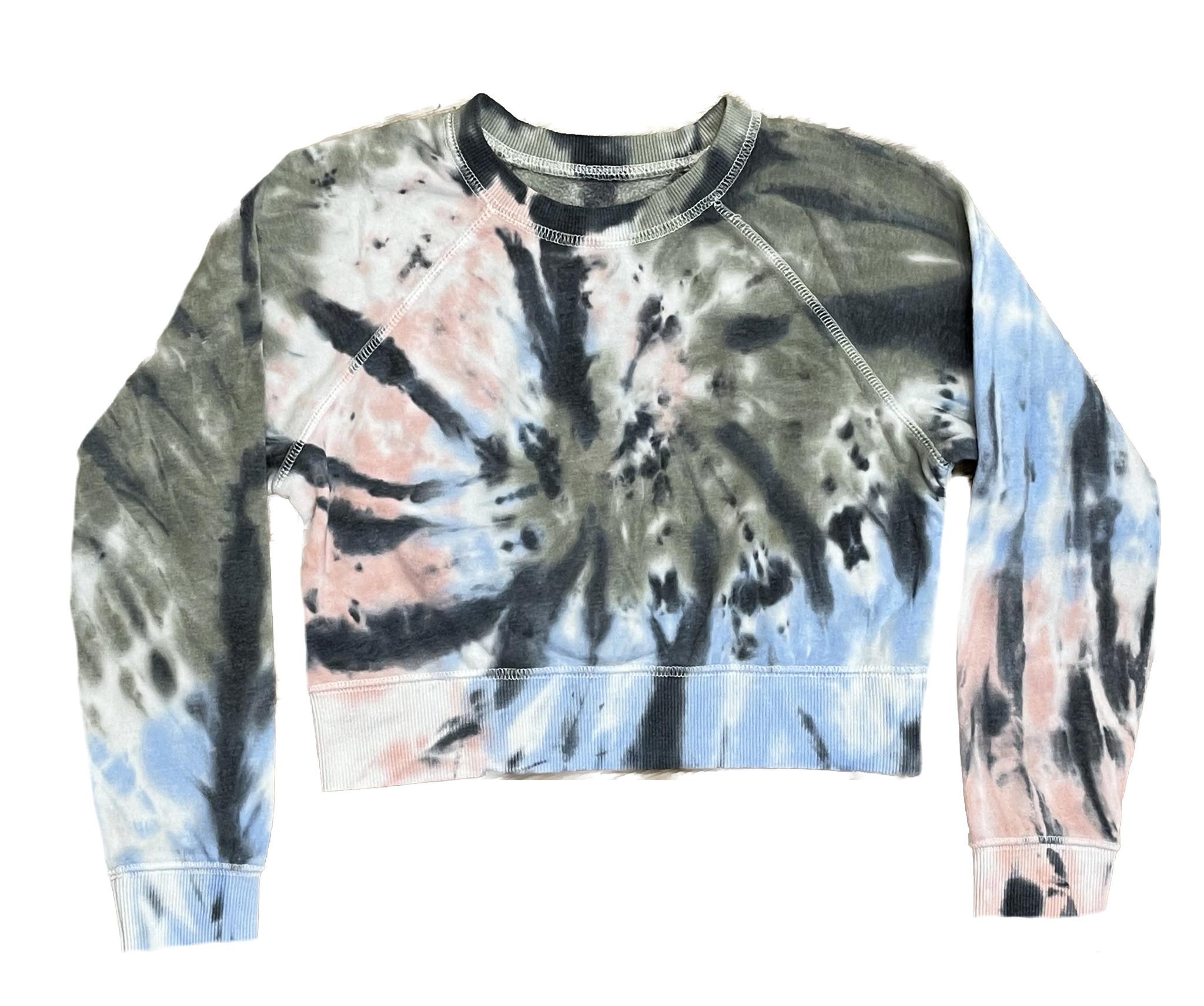 Katie J NYC Sage TD Crop Sweatshirt