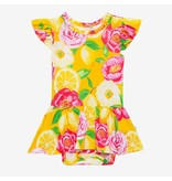 Posh Peanut Annika Sunshine Floral Twirl Bodysuit