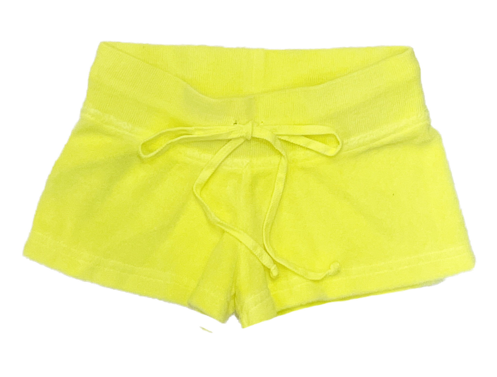 Hard Tail Low-Rise Flo Yellow Terry Shorts