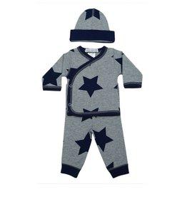 Little Mish Grey/Lg Navy Star 3pc Take Home Set