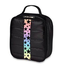 Black Puffer Lunch Box Gradient Star Strap