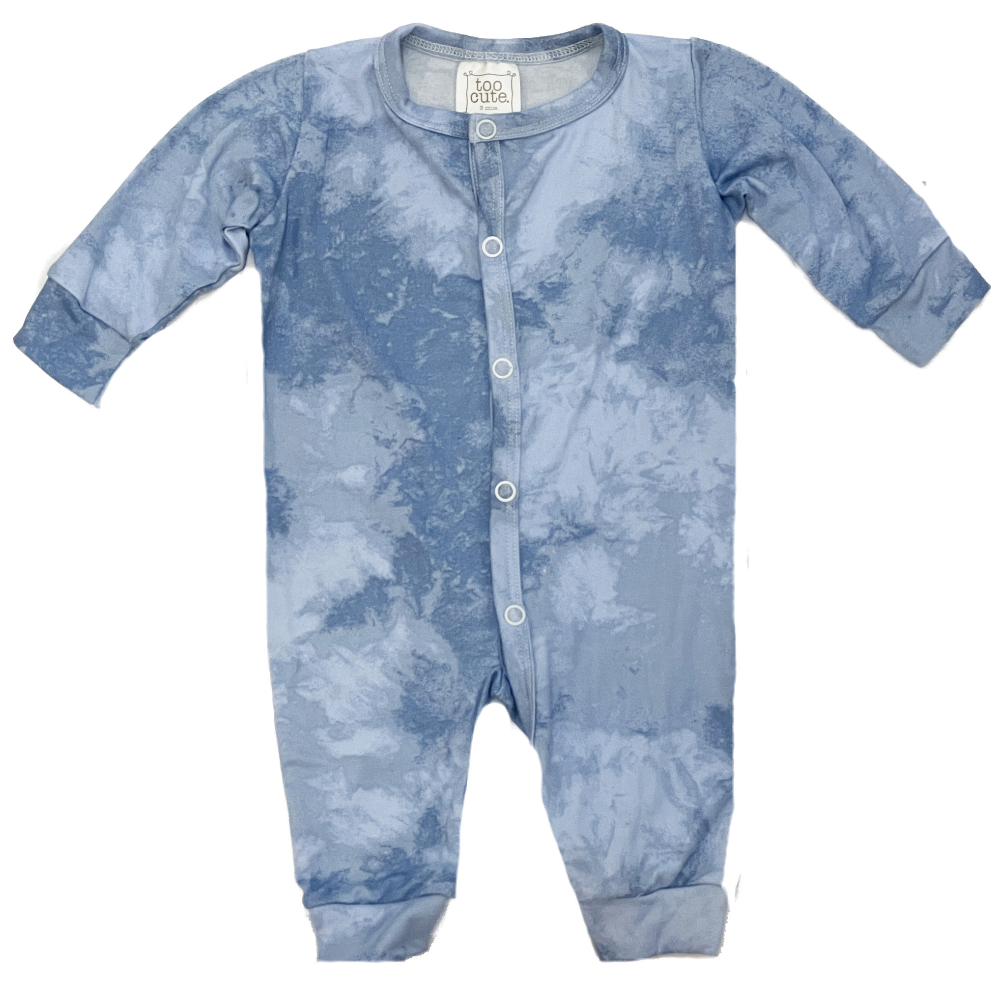 Too Cute New Blue TD Snap Coverall