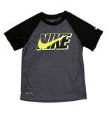 Nike Blk/Flo Yellow Swoosh Tee