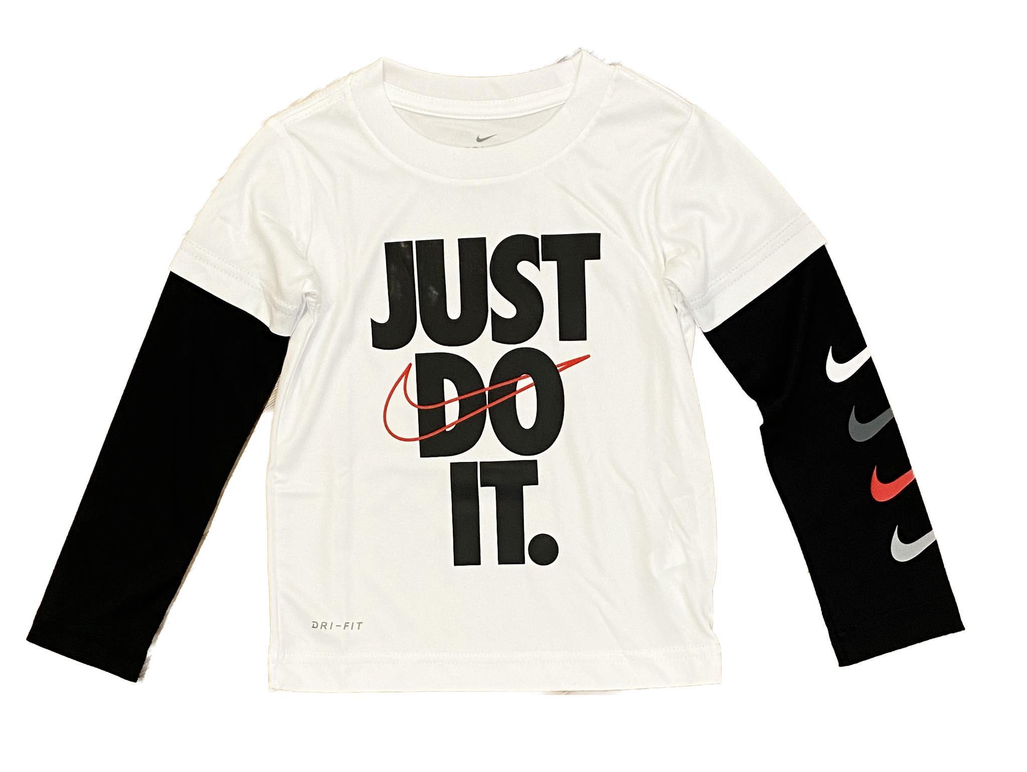 Nike Wht/Blk Do It Twofer Tee