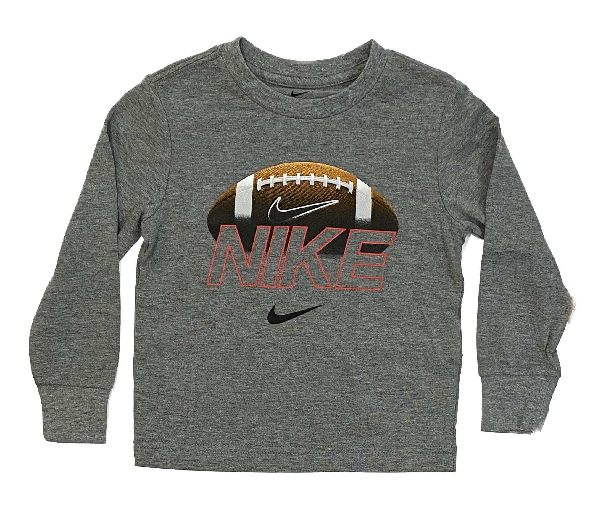 Nike Grey Football LS Tee