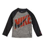 Nike Smoke/Grey Red Logo LS Tee