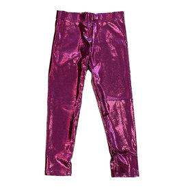 Dori Deep Hot Pink Lame Legging