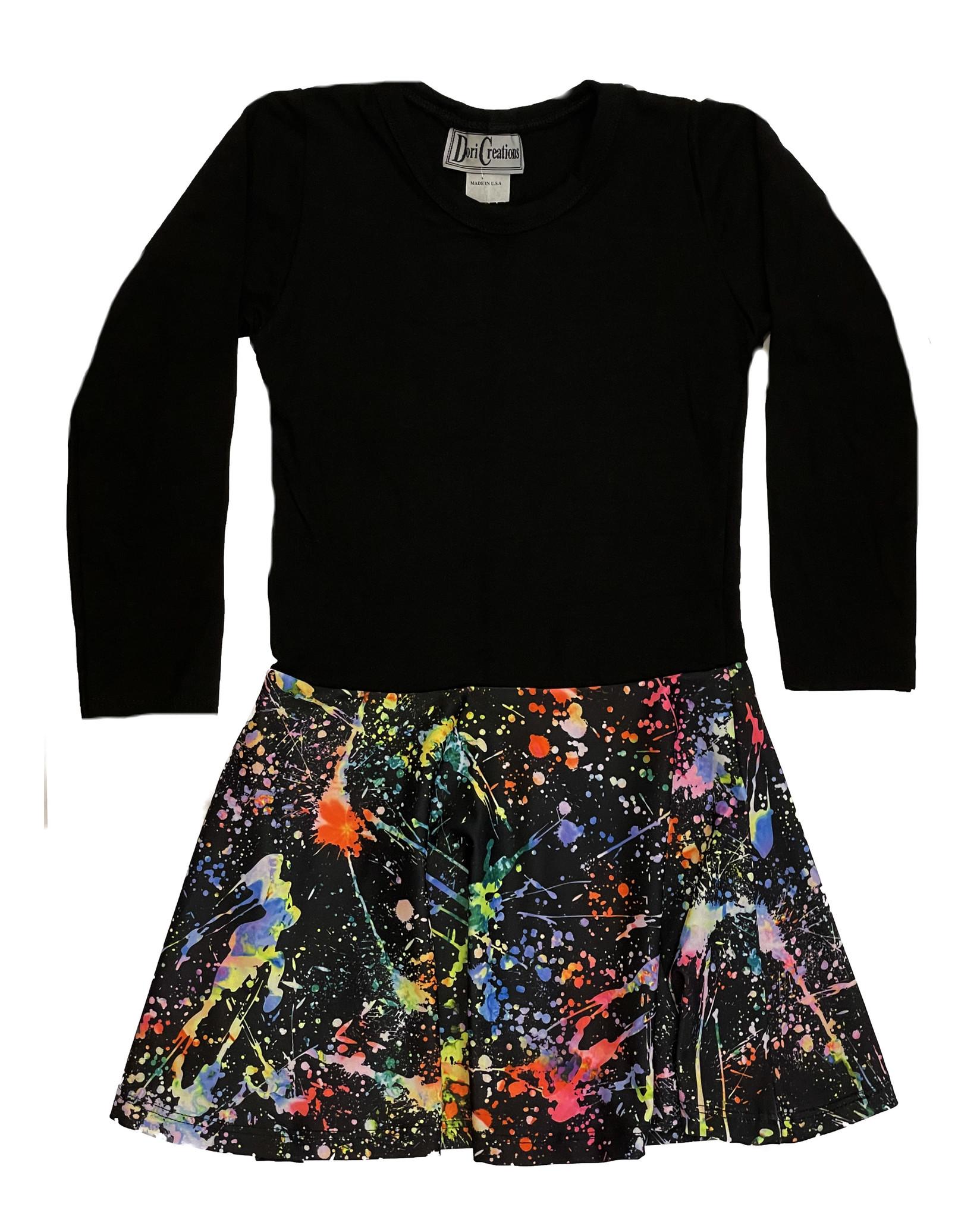 Dori Blk/Splatter Dress