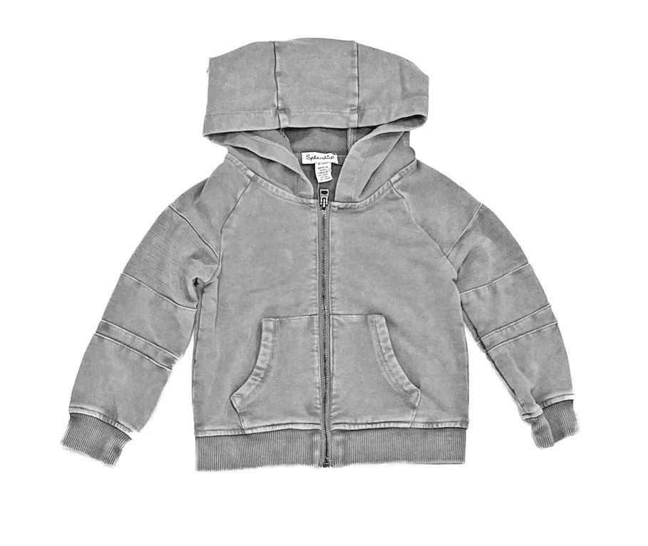 Splendid Cool Grey Infant Zip-Up Hoodie