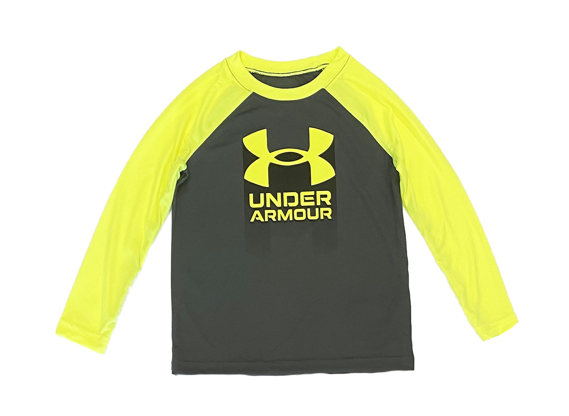Under Armour Grey/Flo Logo Top