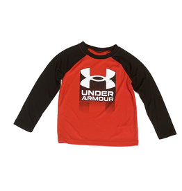 Under Armour Red/Blk Logo Top