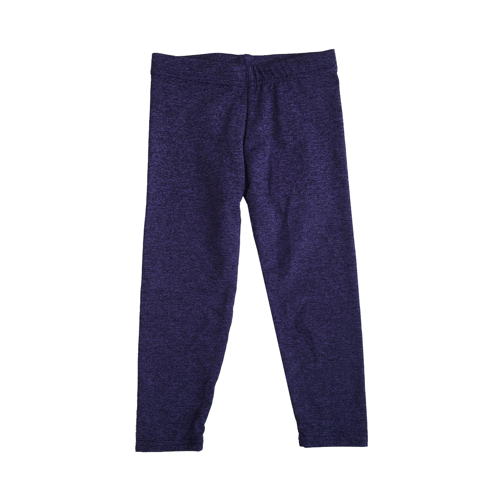 Dori Purple/Black Infant Heathered Legging