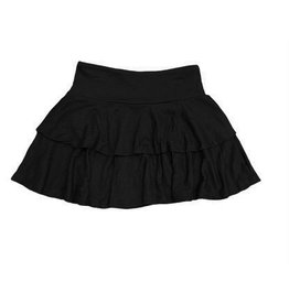 SLS Black Ribbed 2 Tiered Skirt