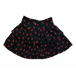 SLS Floral Ribbed Two Tiered Skirt