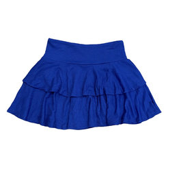 SLS Blue Ribbed Two Tiered Skirt