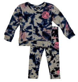 Flowers By Zoe Navy/Pink TD Smile Toddler Set