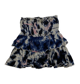 Flowers By Zoe Navy/Pink TD Skirt