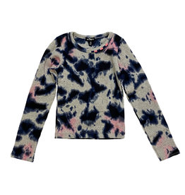 Flowers By Zoe Navy/Pink TD Ribbed Top