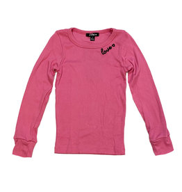 Flowers by Zoe Pink Ribbed Love Infant Top
