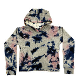 Flowers By Zoe Navy/Pink TD Stitched Hoodie