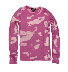 Flowers by Zoe Pink Bleached Ribbed Top