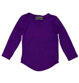 Dori Rounded Bottom Purple LS Top