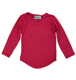 Dori Rounded Bottom Hot Pink LS Top