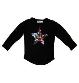 Dori Splatter Star Black LS Tee