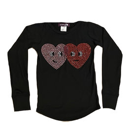 Sparkle Studded Hearts LS
