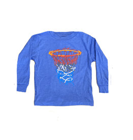 Blue Bball Hoops LS Tee