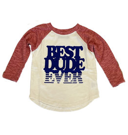 Tiny Whales Best Dude Ever Infant Raglan