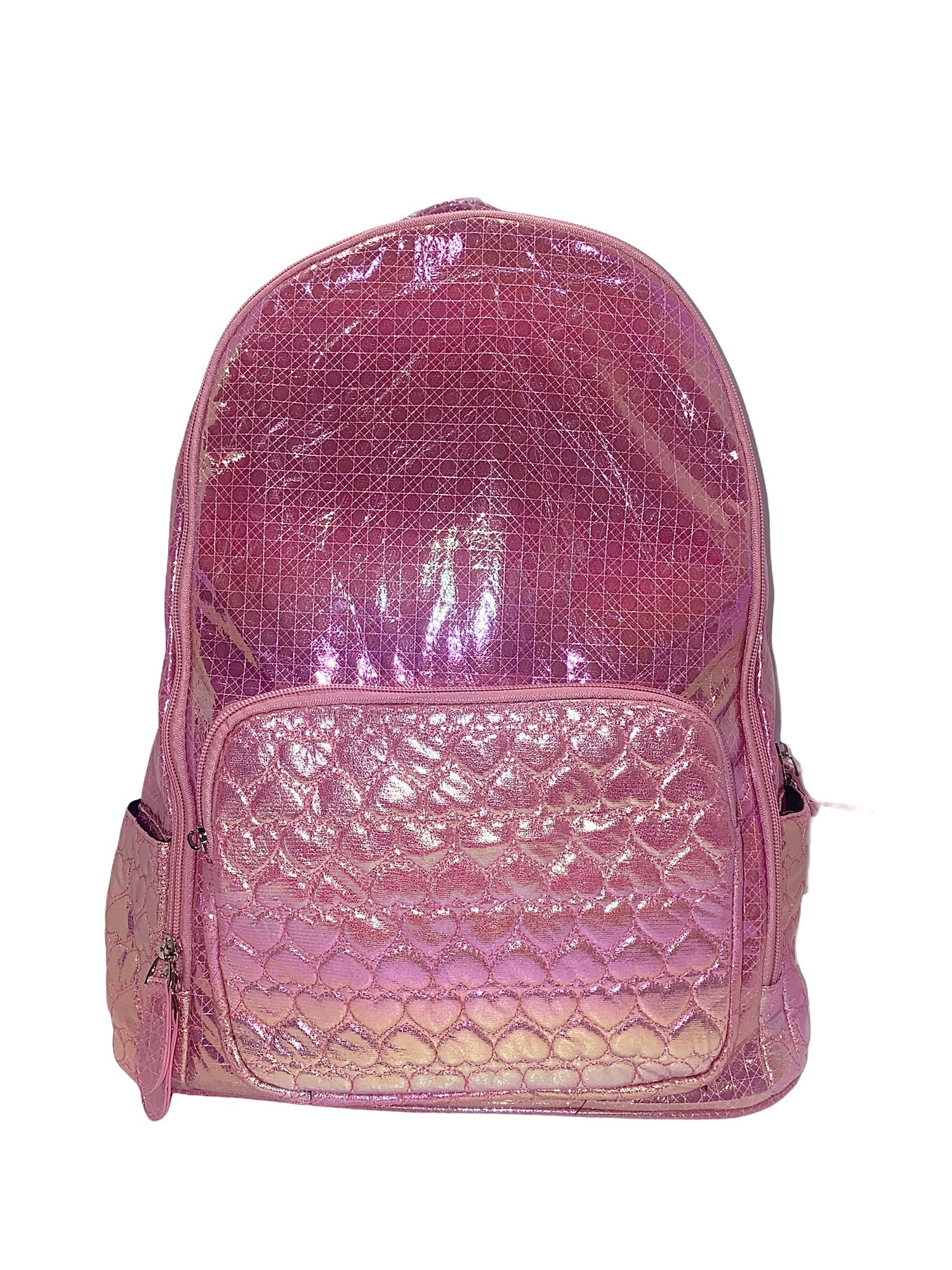 Bari Lynn Pink Heart Lg. Backpack