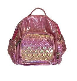 Bari Lynn Pink Heart Mini Backpack