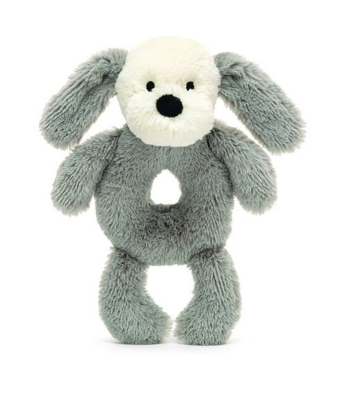 Jellycat Smudge Puppy Ring Rattle