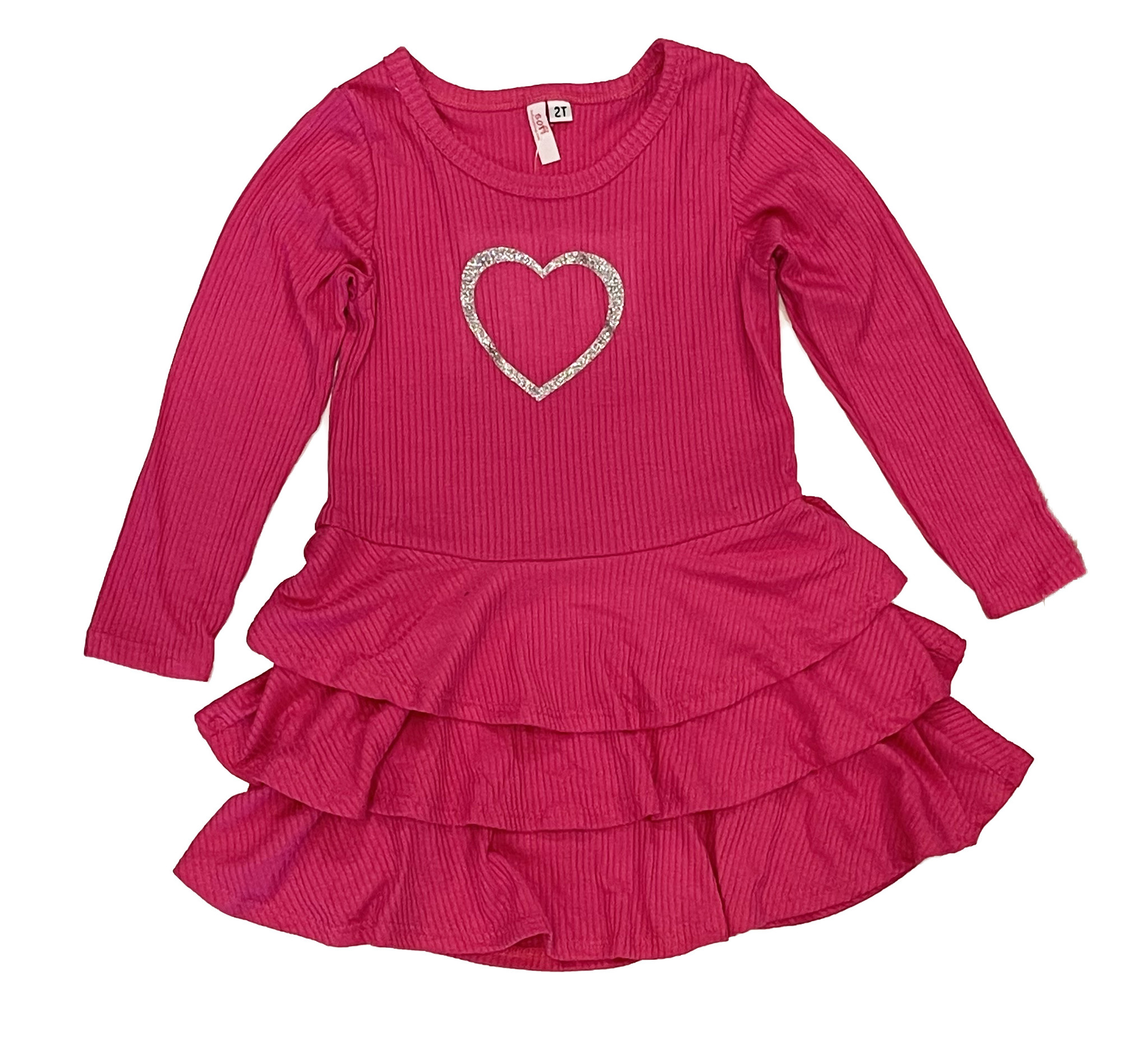 Sofi Fuschia/Silver Heart Dress