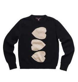 Imoga Black /Gold Heart Sweater
