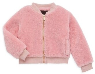 Imoga Pink Gemma Faux Fur Bomber Jacket