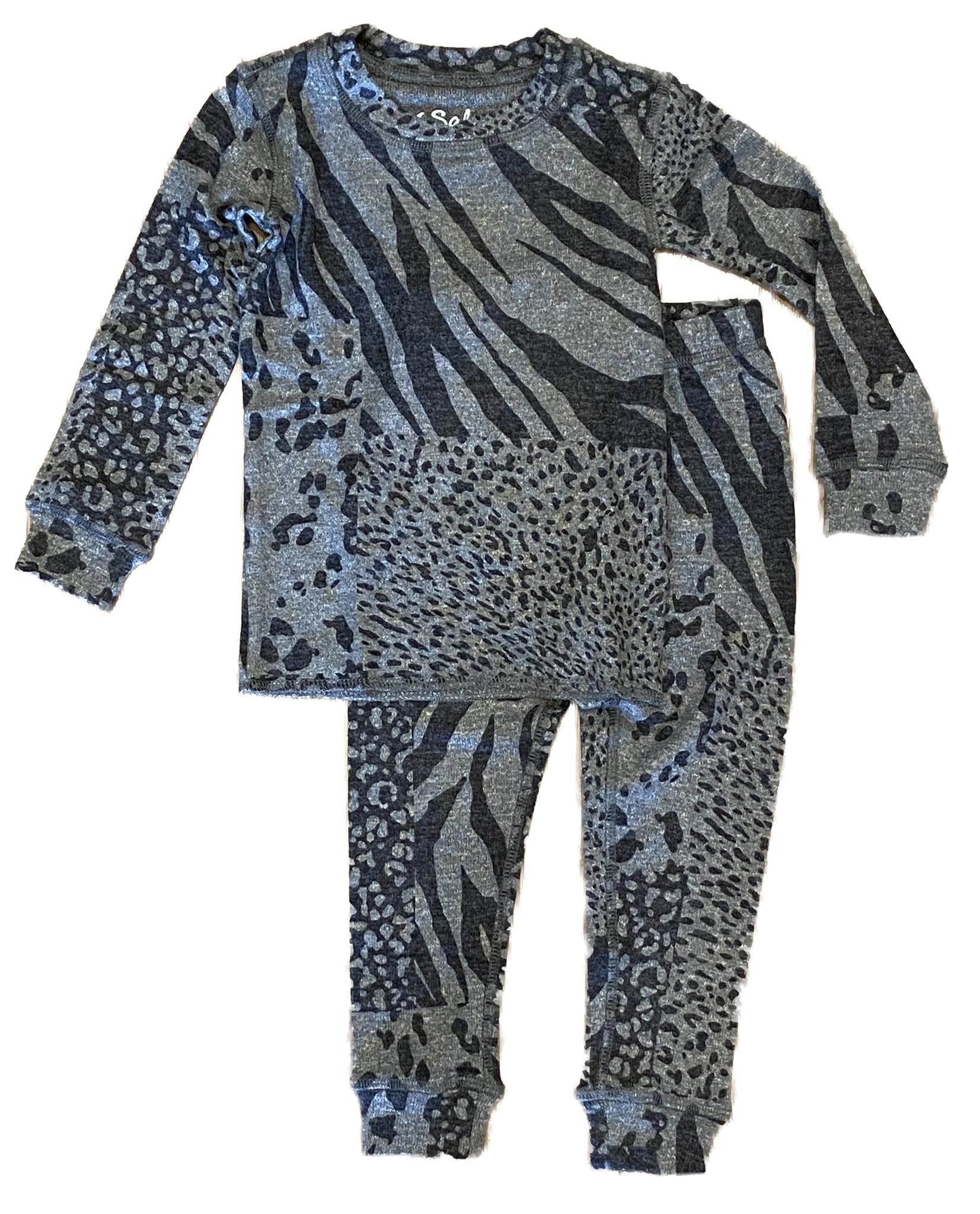 PJ Salvage Charcoal Animal Print Set