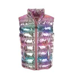 Appaman Metallic Rainbow Puffer Vest