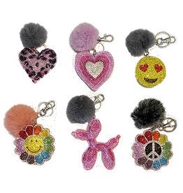Crystal Backpack Clip Keychain Assortment