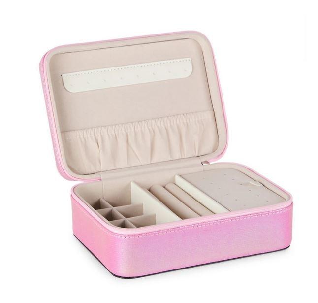 Pink Puffy Heart Jewlery Box