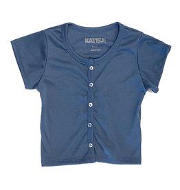 Katie J NYC Denim Blue SS Cardi Top