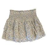 Katie J NYC Bianca Denim/Cream Floral Skirt