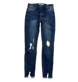 Tractr Diane Destructed Fray Hem Skinny Jean