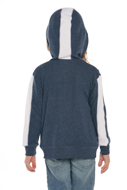 Chaser Blue Side Paneled Zip Hoodie