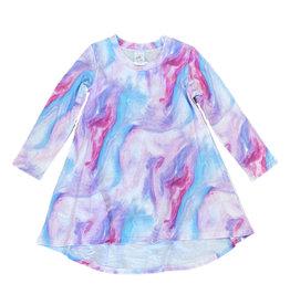 Esme Pink/Purple Marble Lounge Dress