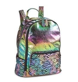 Bari Lynn Rainbow Zebra Backpack