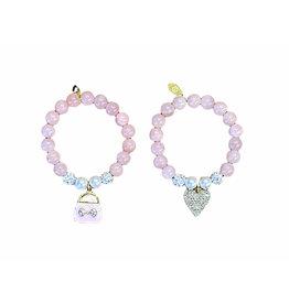 Fancy Pink Pearls Bracelet - 2 options