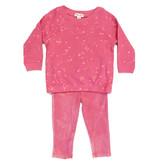 Splendid Pink Bleach Splater Toddler Legging Set